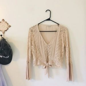 American Eagle Outfitters Tops - Lace Crop Top